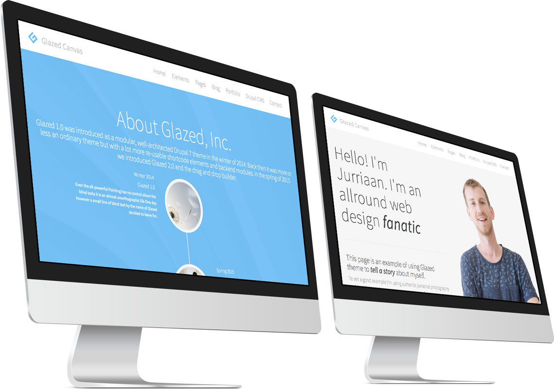 Glazed Drupal Theme Subpage Templates