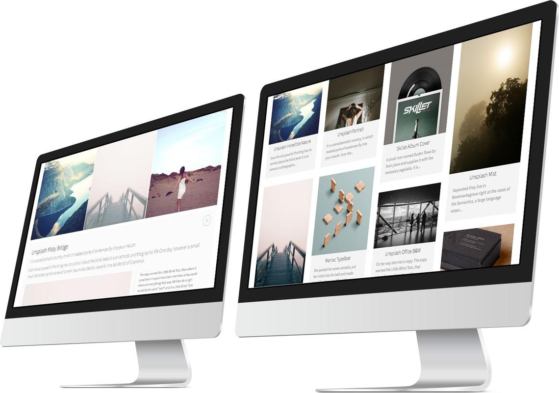 Glazed Drupal Theme Portfolio Templates