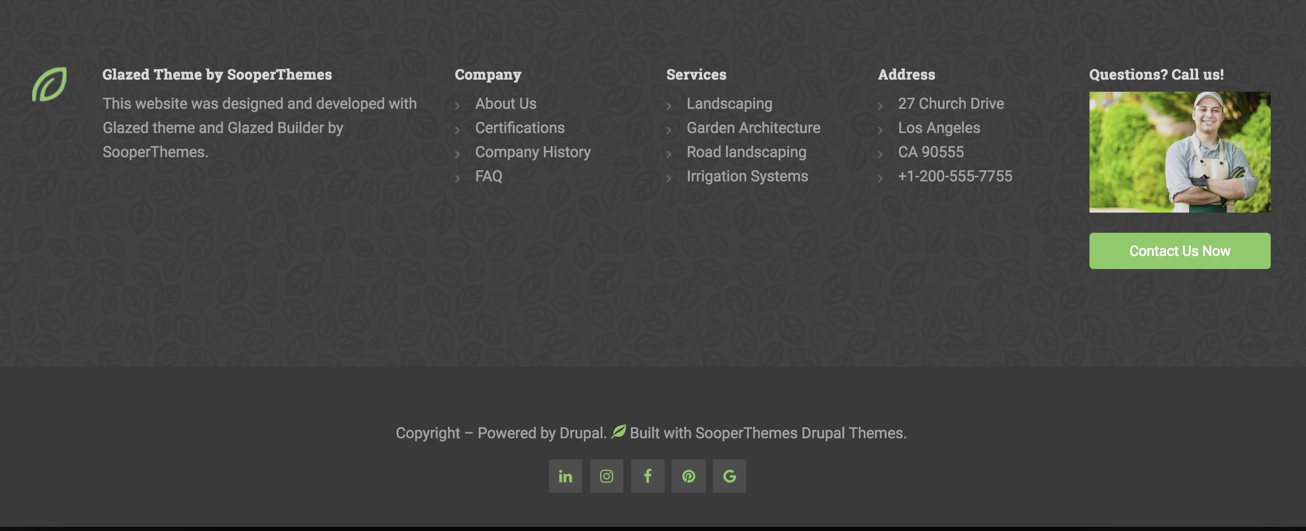 Landscaping Drupal Theme 2018 Drupal 8 Theme Drupal 7 Theme