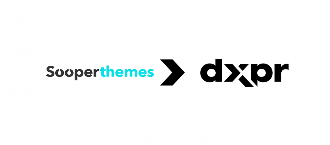 Sooperthemes logo and DXPR logo