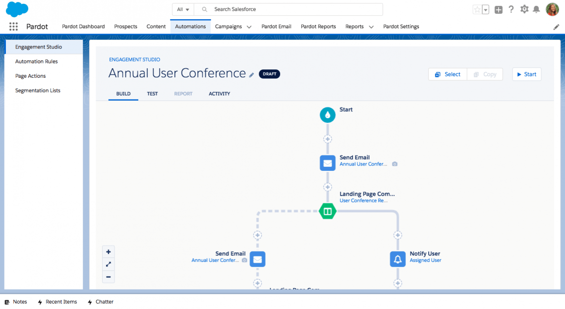 Pardot Screenshot
