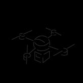 Drone Deliver Icon Clean