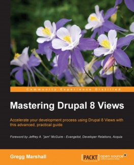 Drupal 8 books Views