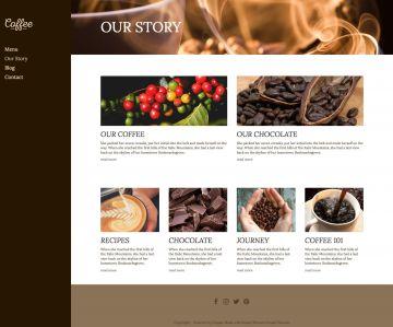 Cafe Drupal Theme Screenshot