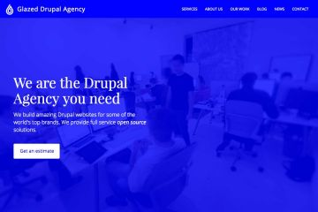 Glazed Drupal Agency Theme Screenshot