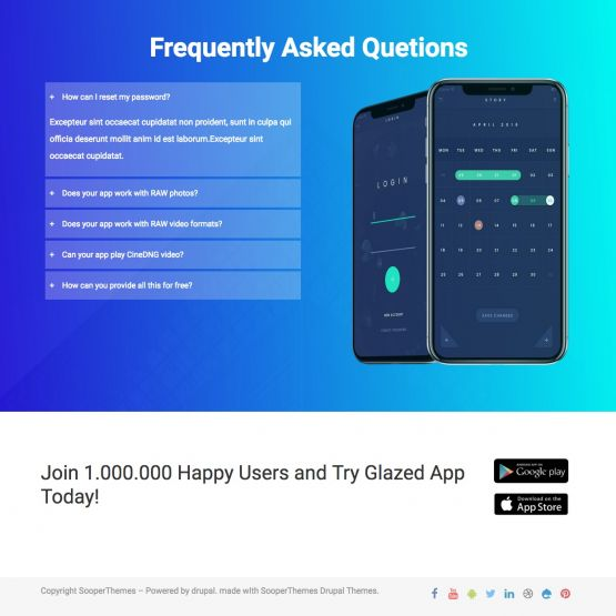 App Drupal Theme Homepage with Carousel