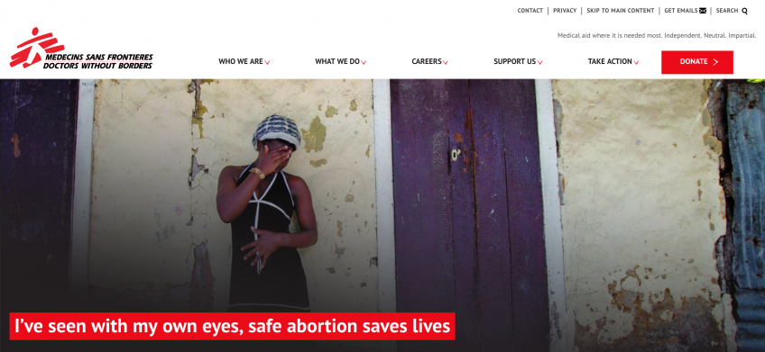 Doctors without Borders Website