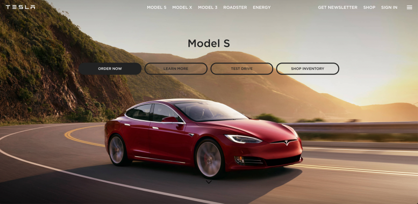 Tesla Website