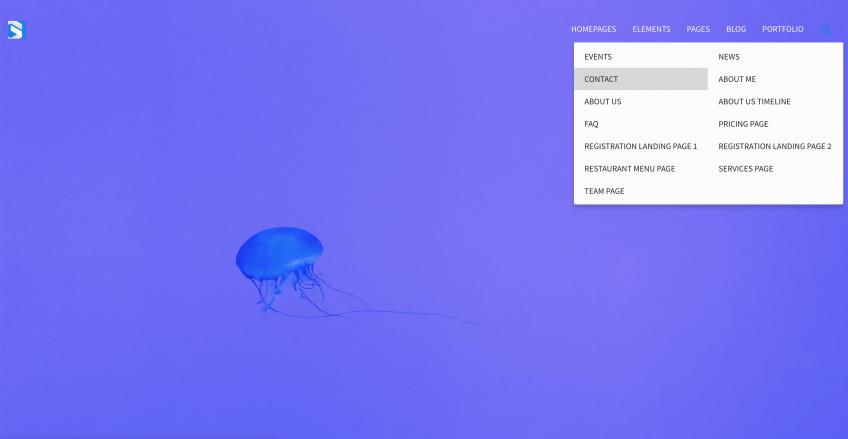 Minimalist drupal drop-down menu