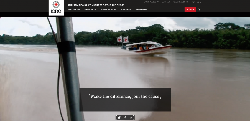 International Committee of the Red Cross Website