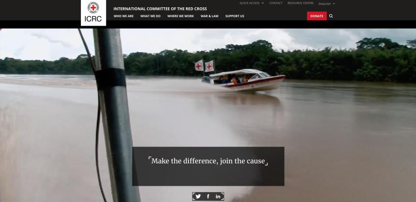 International Committee of the Red Cross Website