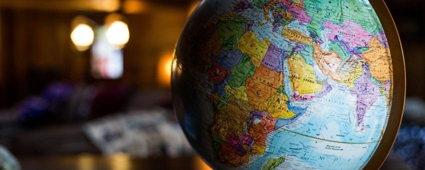 Globe of planet Earth