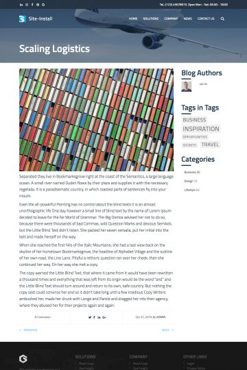 Logistics Drupal Theme Blog Page