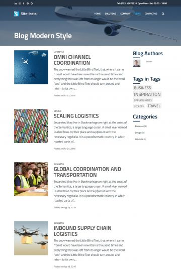 Logistics Drupal Theme Blog View