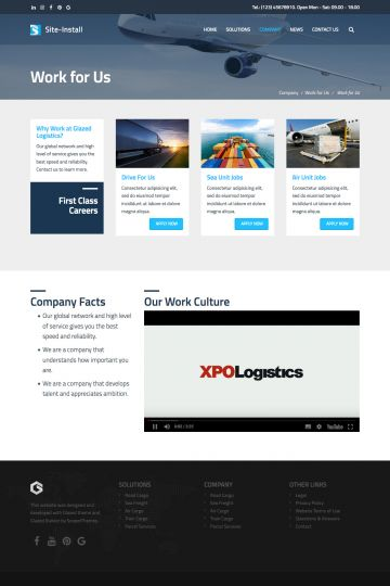 Logistics Drupal Theme Screenshot