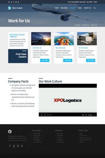 Logistics Drupal Theme Screenshot