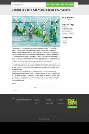 Logistics Drupal Theme Blog Page