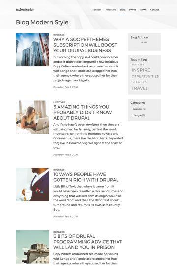 Business Drupal Theme Blog View