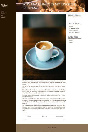 Cafe Drupal Theme Blog Page