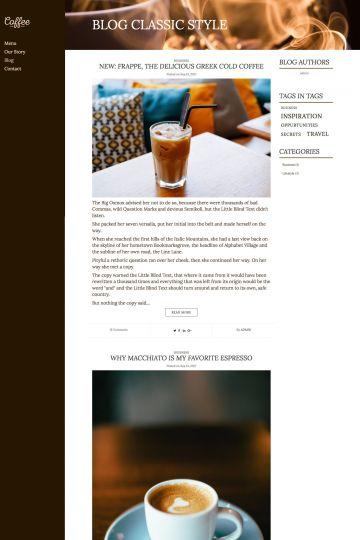 Cafe Drupal Theme Blog View