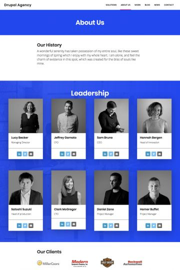 Drupal Agency Drupal Theme Homepage with Video