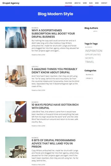 Drupal Agency Drupal Theme Blog View