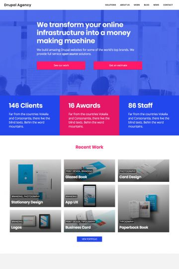 Drupal Agency Drupal Theme Homepage with Carousel