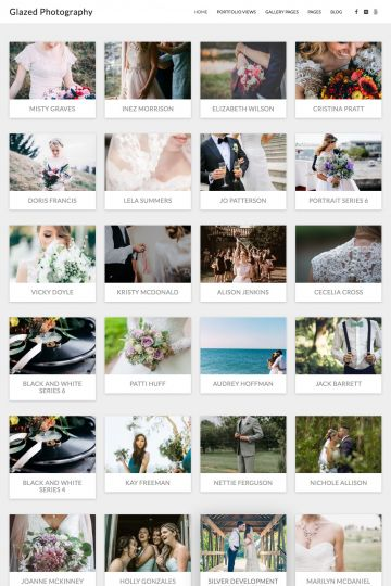 Photography Drupal Theme Homepage with Image
