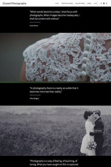 Photography Drupal Theme Homepage with Carousel