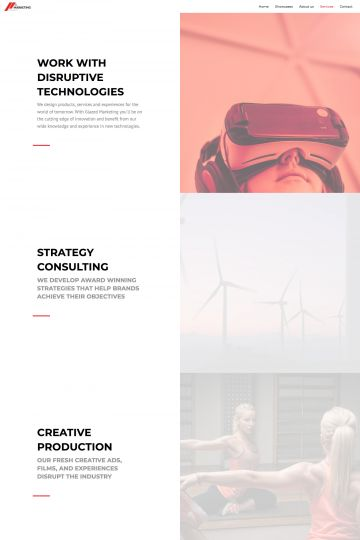 Agency Drupal Theme Homepage with Image