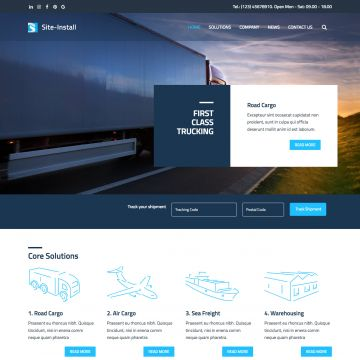 Logistics Drupal Theme Static Image Homepage