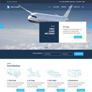 Logistics Drupal Theme Slider Homepage