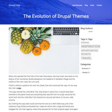 App Drupal Theme Blog Page