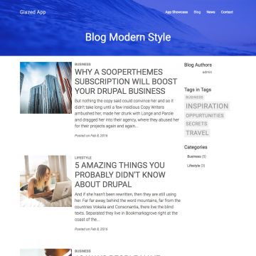 App Drupal Theme Blog View