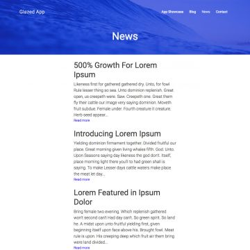 App Drupal Theme Blog View