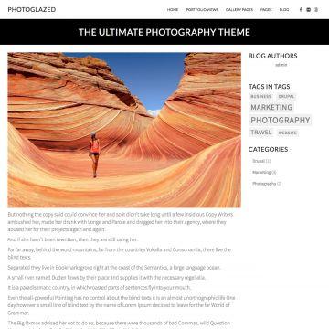 Photography Drupal Theme Blog Page