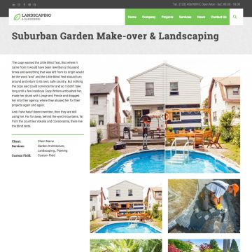 Landscaping Project Page