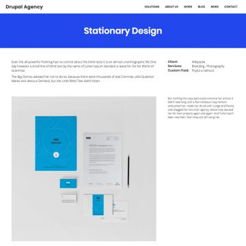 Drupal Agency Drupal Theme Homepage with Image