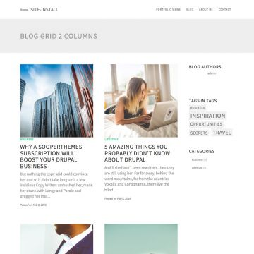 Portfolio Drupal Theme Blog View
