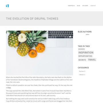 Construction Drupal Theme Blog Page