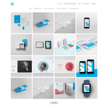Portfolio Drupal Theme Homepage with Carousel