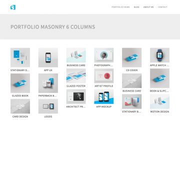 Portfolio Drupal Theme Homepage with Image