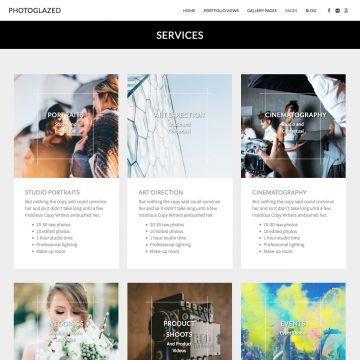 Photography Drupal Theme Blog View