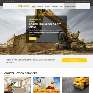 Construction Drupal Theme Homepage with Image