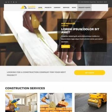 Construction Drupal Theme Homepage with Video